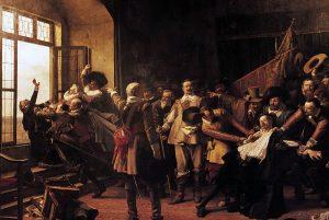 Václav Brožík - Defenestrace pražská 23 května 1618